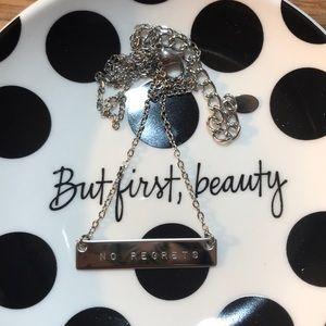 No Regrets statement necklace